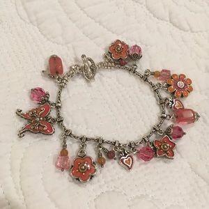 Brighton orange /pink charm bracelet
